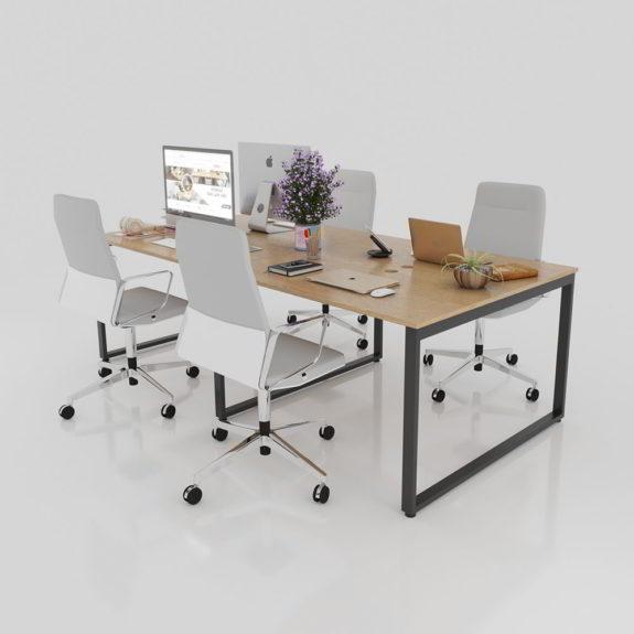 Chọn bàn nhân viên để tối ưu không gian phòng làm việc nhỏ.